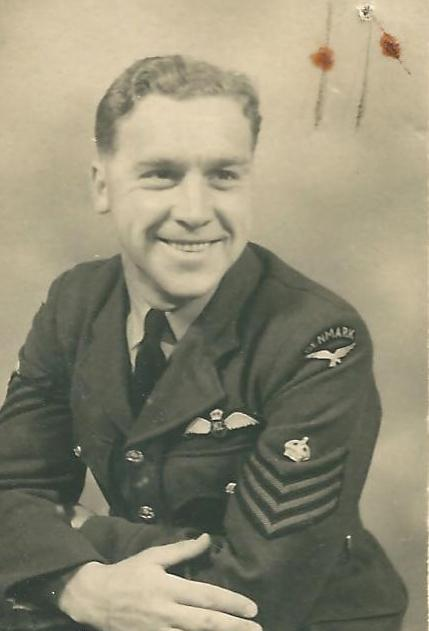 Henry Haakon Hansen as F/Sgt in RNZAF between April 1944 and March 1945 (Museum of Danish Resistance).